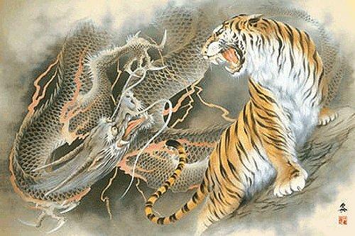 Дракон и Тигр в национальном искусстве Китая