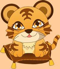 Флэш-игра - Наряди тигрёнка