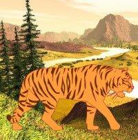 Флэш-раскраска - Тигр
