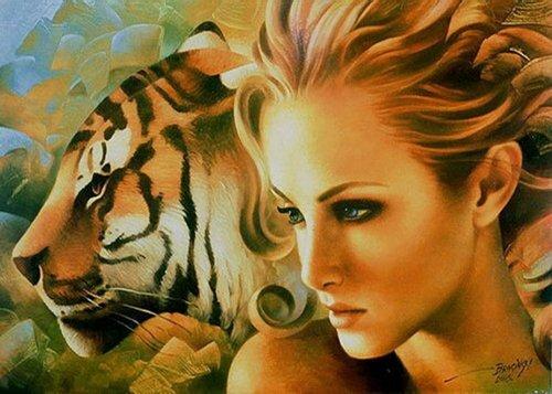 Как женщины провели тигра