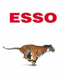 """Тигр - символ """"Esso"""" с начала XX века"""