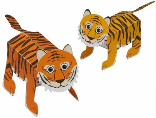 """Модель для склеивания """"Прыгающий тигр"""" с сюрпризом"""